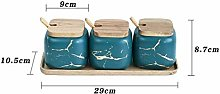N\A Storage Canisters Kitchen Seasoning Tank Set