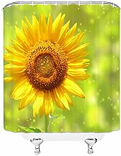N\A Sunflower Shower Curtain Sunset Flower with