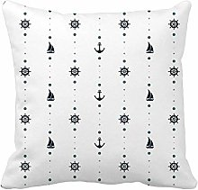 N\A Throw Pillow Cover Blue Abstract Nautical