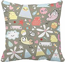 N\A Throw Pillow Cover Brown Baby of Gay Monsters