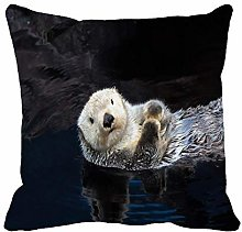 N\A Throw Pillow Cover Brown Baby Sea Otter