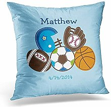 N\A Throw Pillow Cover Personalized Sports