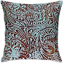 N\A Throw Pillow Cushion Cover,Leather Country