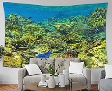 N\A Under Sea Tapestry Ocean Water Tropical Island