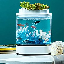 N\A USB Charging Self-cleaning Aquarium with 7