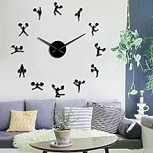 N / A wall clock Cheerleader With Pompoms DIY