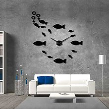 N / A wall clock Fish With Bubble DIY Giant Wall