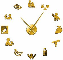 N /A Wall Clock Nutrition Care Healthy Eating
