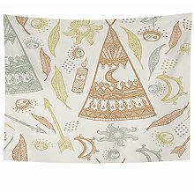 N\A Wall Hanging Tapestries Colorful Tent Forest