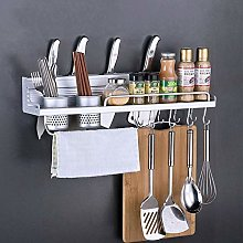 N / A Wall Mount Spice Rack Aluminum Condiments