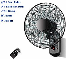 N / A Wall Mounted Fan- 15 PP Blades,3 Speed/3