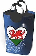 N\A Welsh Dragon Flag Within A Heart Laundry