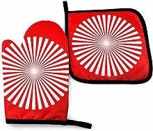 N\A White Stripes Oven Mitts and Pot Holders Sets,