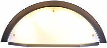 N\A White Wall Lamp Semicircular Fence Light