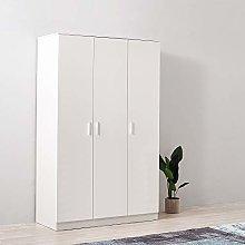 N / A Wooden 3 Door Bedroom Wardrobe with Hanging