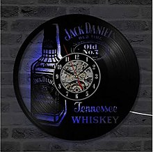 N / A wxyfg A Bottle of Whiskey Beer Wall Clock