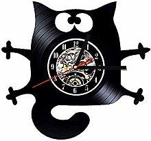 N / A wxyfg Vinyl record wall clock Pet Dog Theme