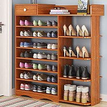 N/AB Large Shoe Storage Cabinet Wooden Boot Stand