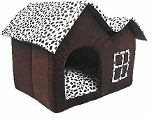 N-B Dog Bed Double Pet House, Brown Dog Room Cat