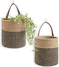 N / B Jute hanging basket-small woven hemp hanging