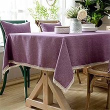N B Rectangle Tablecloth Cotton and Linen,Table
