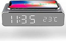 N-B Wireless Charging Alarm Clock, 3-in-1 Digital