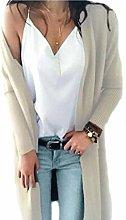 N-B Women Knitted Long Sleeve Long Sweater