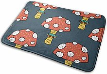 N/C Door Mats Orange Mushroom Topped With Small