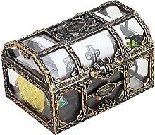 N C Plastic Transparent Pirate Treasure Box,Kids