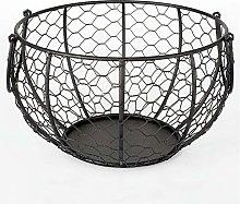 N/C Wire Egg Basket Metal Egg Storage Basket with