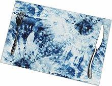 N/D Seamless Tie Dye Pattern Of Indigo Color On
