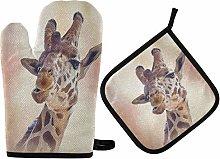 N/E RXYY Art Painting Giraffe Watercolor Oven