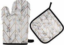 N/E RXYY Golden Geometric Lines Black White Marble