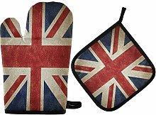 N/E RXYY Vintage England British Uk Flag Oven