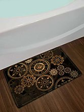 /N Fabric Waterproof Steam Punk Gears Shower