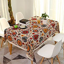 N/G Bohemian Tablecloth, Cotton And Linen, Central
