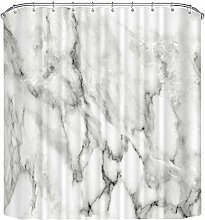 N/G Marble Texture Shower Curtain Mould Proof