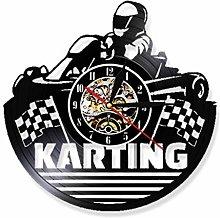 N/ Go Kart Vinyl Record 12 inch Wall Clock Unique