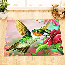 /N Hummer Bird Flower Waterproof Fabric Shower
