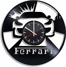N/J Birthday present Car, Vinyl Record Clock