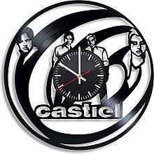 N/J Birthday present Castiel Vinyl Clock,