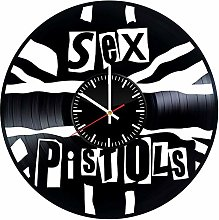 N/J Birthday present Sex Pistols Vinyl Clock, Punk