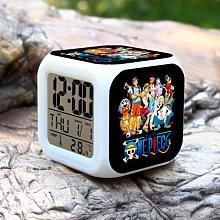 N/J Cartoon pirate 7 Colors Changing Digital Clock