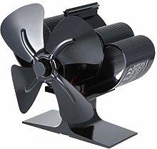 N/J Fireplace Stove Fan, Mini Stove Fan, Overheat