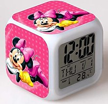 N/J for family Mickey Minnie Colorful Led Alarm