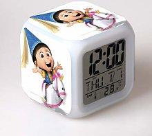 N/J Minions 7 Colors Changing Digital Clock LED