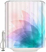 /N Modern Abstract Leaves Bathroom Shower Curtains
