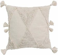 N/P Embroidered Tufted Pillowcase American Solid