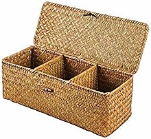 N/P Hand-woven Bamboo Desktop Storage Basket