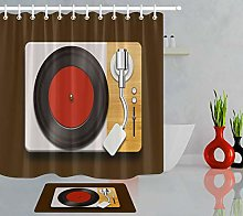 /N Polyester Waterproof Record Player Shower